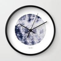 tie dye Wall Clocks featuring Tie Dye by The Mia Harper Series