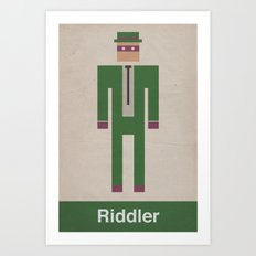 Retro Riddler Art Print