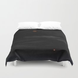 Blood Moon - Total Lunar Eclipse, Grand opposition of Mars, Southern Delta Aquarid meteor shower / c Duvet Cover