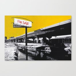 "Stencil Art - ""For Sale""  Canvas Print"