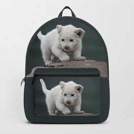 White lion cub Backpack