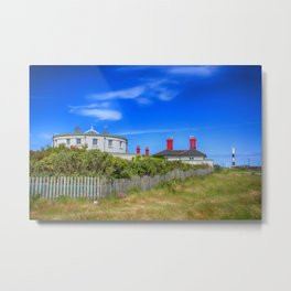 Dungeness Lighthouse Quarters Metal Print