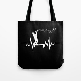 Trumpeter Heartbeat design Cool Gift for Trumpet Lovers Tote Bag