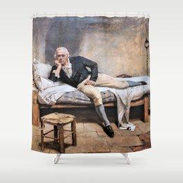 12,000pixel-500dpi - Arturo Michelena - Miranda in La Carraca - Digital Remastered Edition Shower Curtain