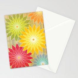 Warm Flowers Stationery Cards
