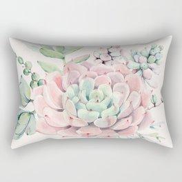 Perfect Pink Succulent Rectangular Pillow