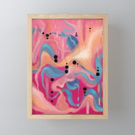 TV Heat Framed Mini Art Print