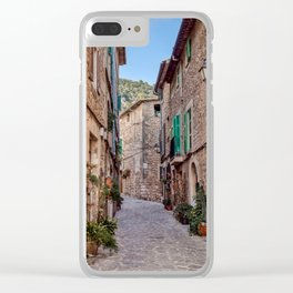 Narrow street in Valldemossa village - Mallorca, Spain Clear iPhone Case