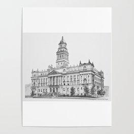 Wayne County Court House | Detroit Michigan Poster