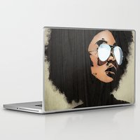 afro Laptop & iPad Skins featuring Venus Afro by Vin Zzep