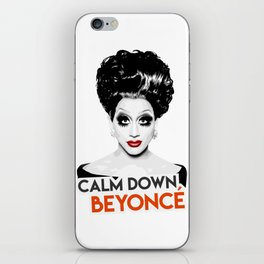 """Calm down Bey!"" Bianca Del Rio, RuPaul's Drag Race Queen iPhone Skin"