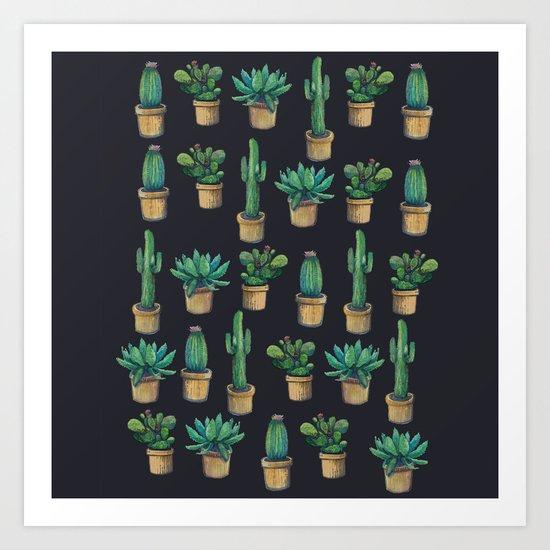 cactus cactus  Art Print
