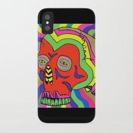 Hallucinogenic Skull iPhone Case