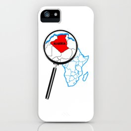 Algeria Magnifying Glass iPhone Case