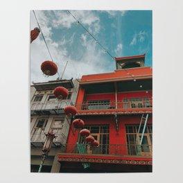 chinatown lanterns Poster