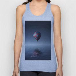 Hot Air Balloon Reflection Unisex Tank Top