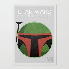 Star Wars VI: Return Of The Jedi Canvas Print