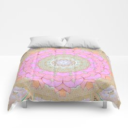 Lotus Blossom Mandala Comforters