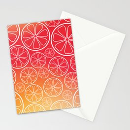 Citrus slices (red/orange) Stationery Cards