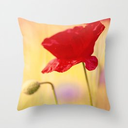 Poppy-style character Throw Pillow