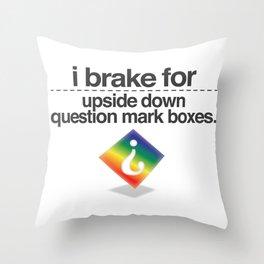 Brake for Boxes Throw Pillow