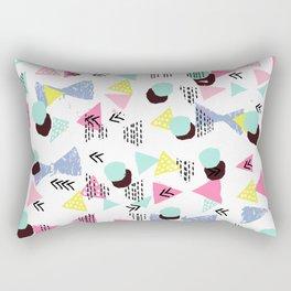Geometric Minimal pastel modern pattern design triangle dots polka dots memphis basic nursery decor Rectangular Pillow