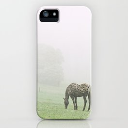 Leopard in the mist.  iPhone Case
