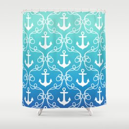 Nautical Knots Ombre Shower Curtain