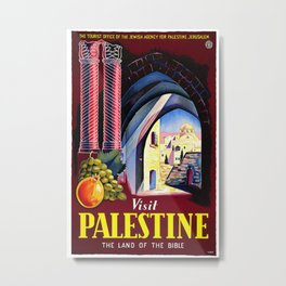Visit Palestine - Vintage Travel Poster Metal Print