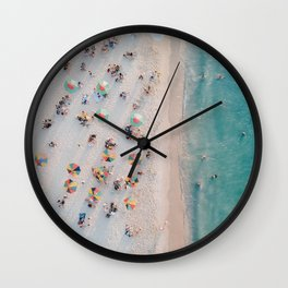 summer beach v Wall Clock