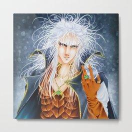 Jareth, the Goblin King, by Suki Manga Art Metal Print