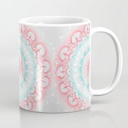 Teal & Coral Glow Medallion Coffee Mug
