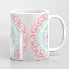 Teal & Coral Glow Medallion Coffee Mug