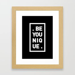 YOU AND YOURSELF (BLK) Framed Art Print