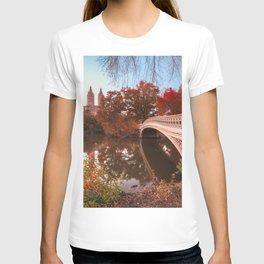 Central Park Fall Sunset T-shirt