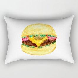 Watercolor burger Rectangular Pillow