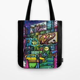 Time square montage 1  Tote Bag