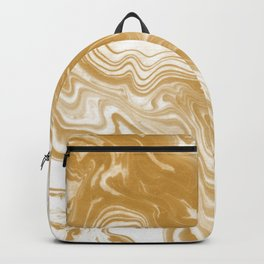 Marble gold pattern suminagashi spilled ink japanese watercolor abstract painting Backpack