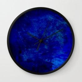 Blue Night- Abstract digital Art Wall Clock