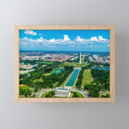 DC from Above Framed Mini Art Print