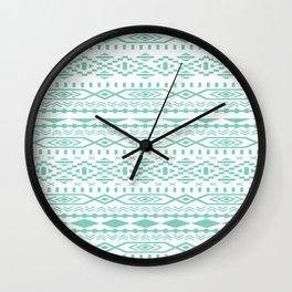 Aztec Lucite Green Wall Clock