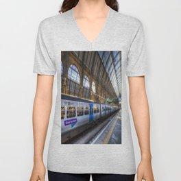 Kings Cross Station London Unisex V-Neck