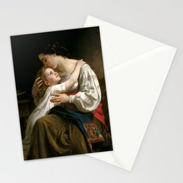 "William-Adolphe Bouguereau ""Getting Up (Le Lever)"" Stationery Cards"