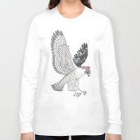 hawk Long Sleeve T-shirts featuring hawk by talltree