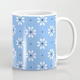 Daisy stitch - blue Coffee Mug