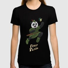 Peter Panda Womens Fitted Tee X-LARGE Black