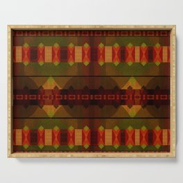 """Full Colors Tribal Pattern"" Serving Tray"