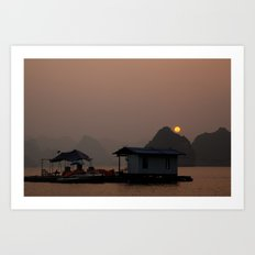 Halong Sunset Art Print