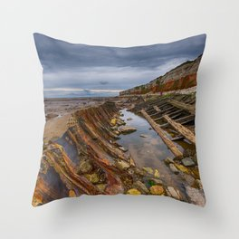 Hunstanton shipwreck Throw Pillow