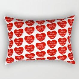World heart day Rectangular Pillow